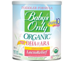 Baby's Only Organic LactoRelief with DHA & ARA Toddler Formula Review