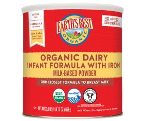 Earth's Best Organic Infant Formula with Iron, Omega 3 and Omega 6 Review